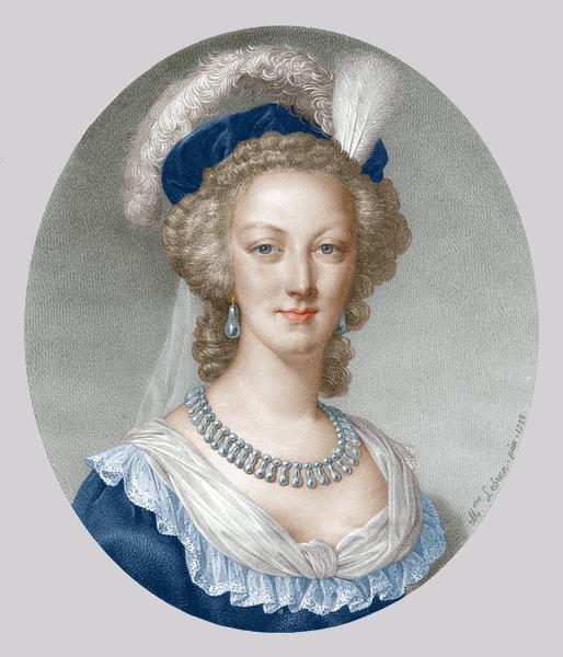 Marie-Antoinette en robe rouge sans ses enfants Zzzzw10