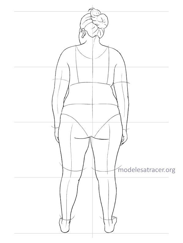 MODÈLES à TRACER pour dessiner vos croquis... Modele15