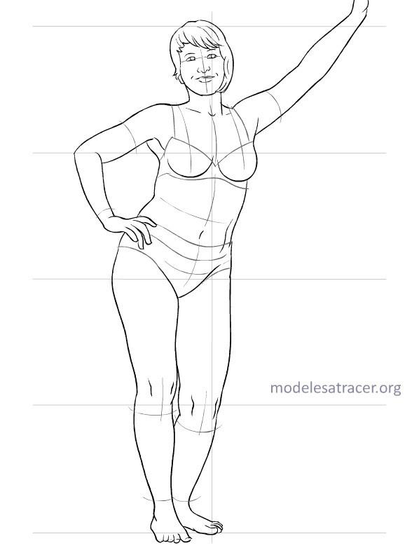 MODÈLES à TRACER pour dessiner vos croquis... Modele33