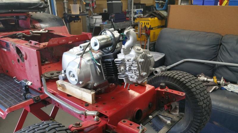 MTD Mower ATV engine swap 20151019