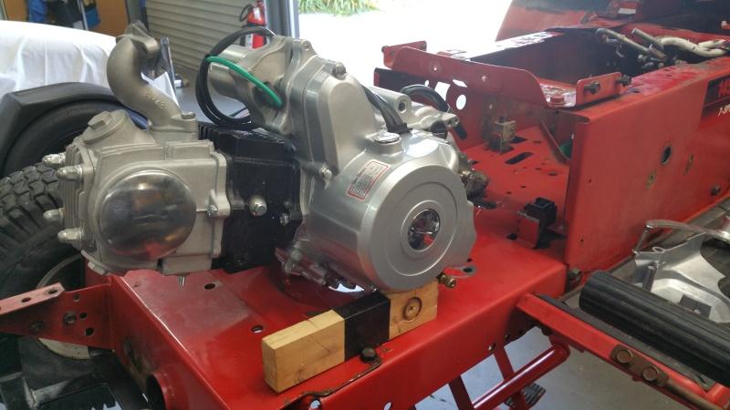 MTD Mower ATV engine swap 20151020