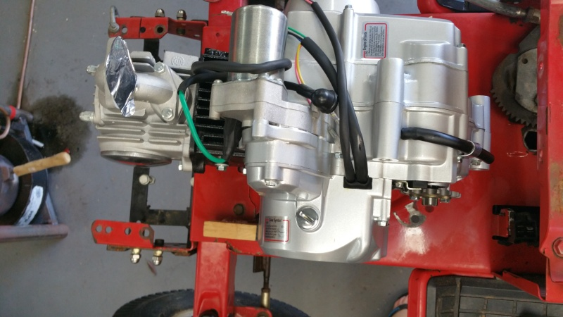 MTD Mower ATV engine swap 20151021