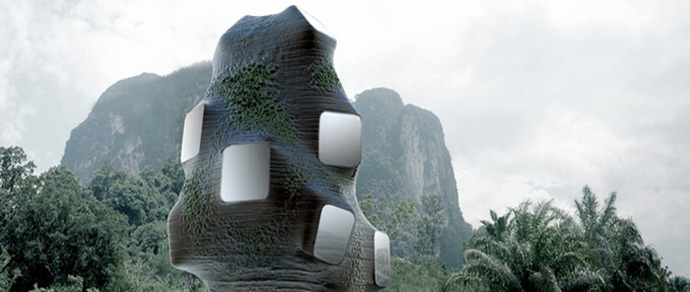 Отель-гнездо: в Таиланде предложили построить гостиницу для птиц и людей 1195b310
