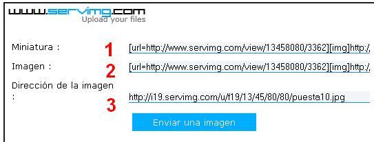 Cómo insertar una imagen desde Servimg Servim14