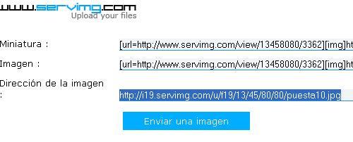 Cómo insertar una imagen desde Servimg Servim15
