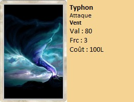 Liste des cartes Illusion Typhon10