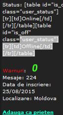 Problema cu statusul online si offline! Bandic18