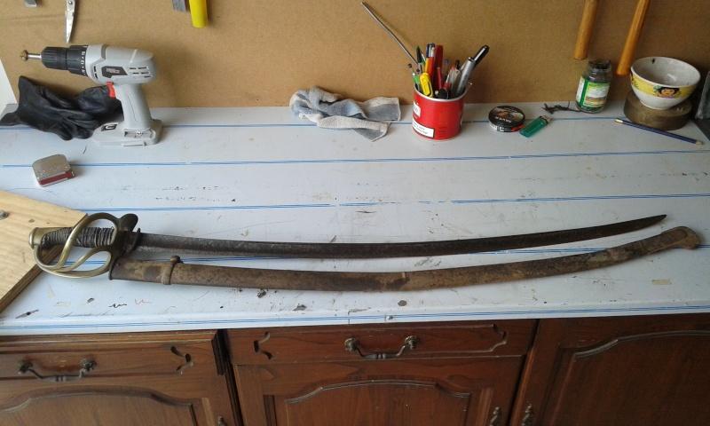 Restauration sabre modèle de troupe 1822 012