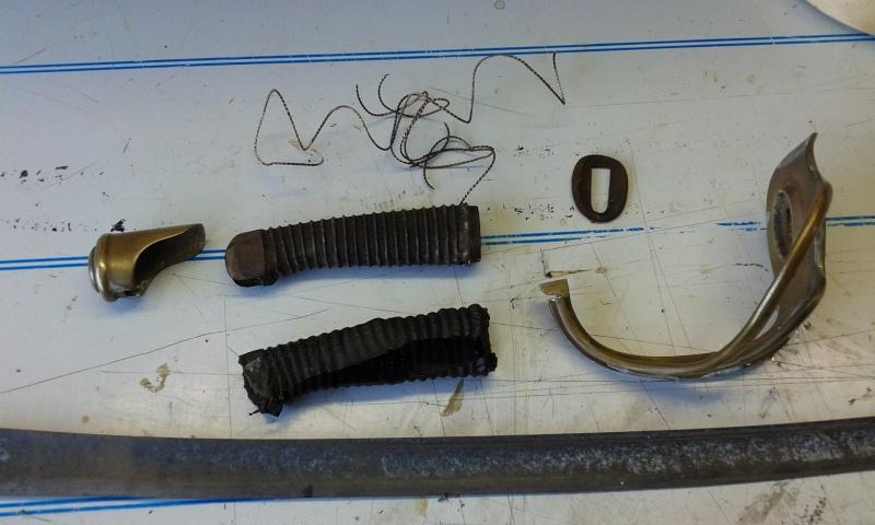 Restauration sabre modèle de troupe 1822 710