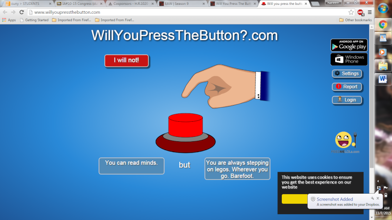 Will You Press The Button? Screen10
