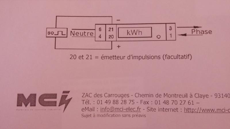 Raccordement borne Schneider et bobine MNx Compte10