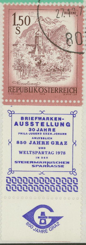 Briefmarken - Briefmarken mit Zierfeldern Allongen (bedruckte Zierfelder) 05_05_10