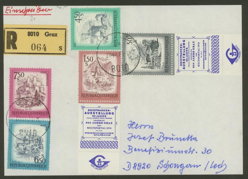 Briefmarken - Briefmarken mit Zierfeldern Allongen (bedruckte Zierfelder) 05_05_12