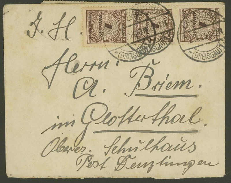 Deutsches Reich Okt. 1918 bis Nov. 1923 325ax110