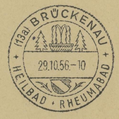 nach - Ortswerbestempel - Deutschland nach 1945 (Handstempel) Brycke10