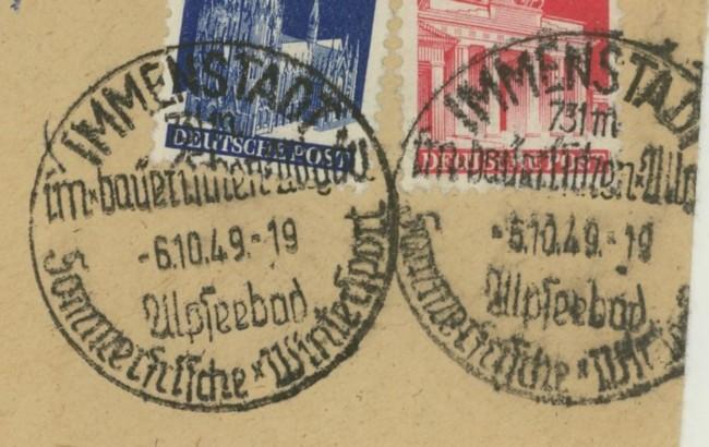 1945 - Ortswerbestempel - Deutschland nach 1945 (Handstempel) Immens10