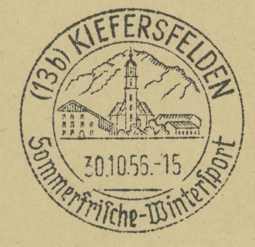1945 - Ortswerbestempel - Deutschland nach 1945 (Handstempel) Kiefer10