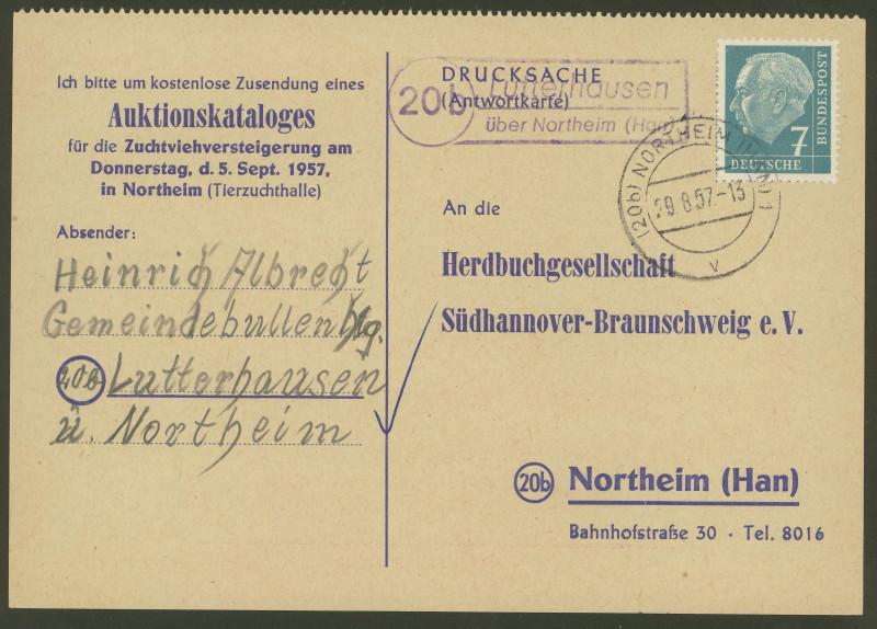 nach - Deutschland  -  Landpoststempel (Poststellenstempel) - Seite 2 Lutter10