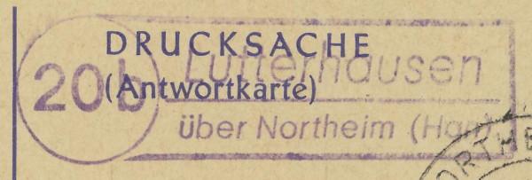 nach - Deutschland  -  Landpoststempel (Poststellenstempel) - Seite 2 Lutter11