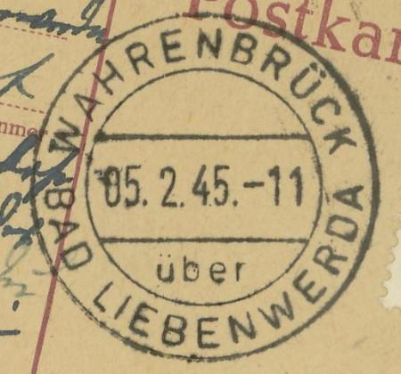 1945 - Deutschland  -  Landpoststempel (Poststellenstempel) Wahren10