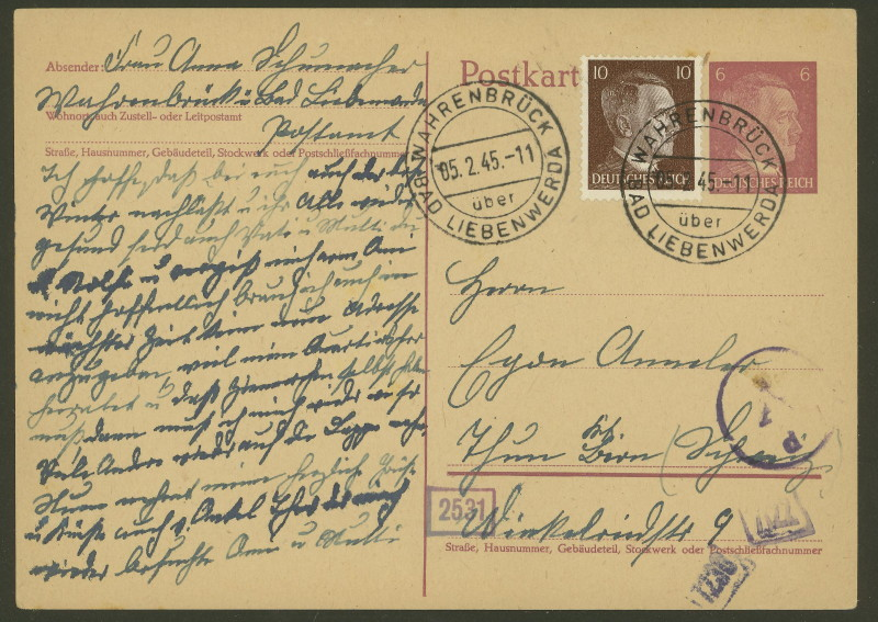 1945 - Deutschland  -  Landpoststempel (Poststellenstempel) Wahren11
