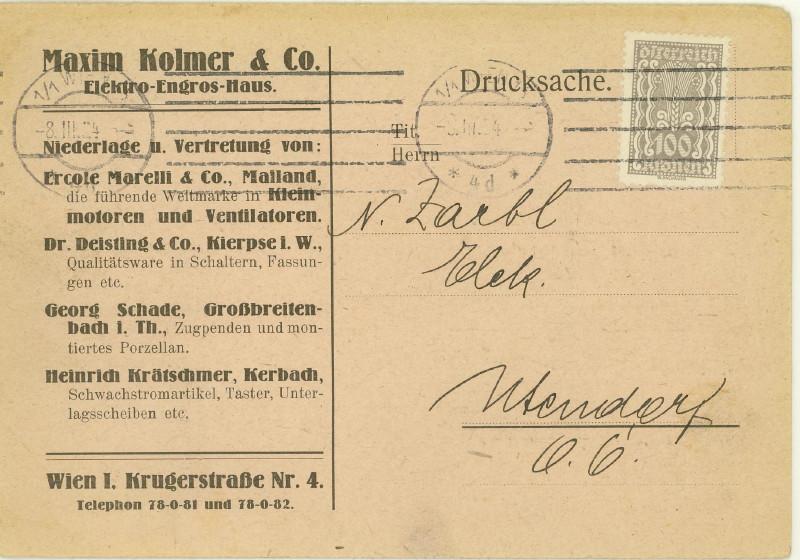 Werbeumschläge und -karten aus Österreich - Seite 4 Wecker10