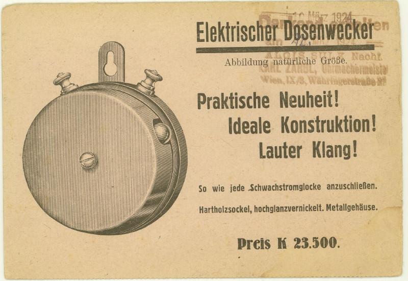 Werbeumschläge und -karten aus Österreich - Seite 4 Wecker11