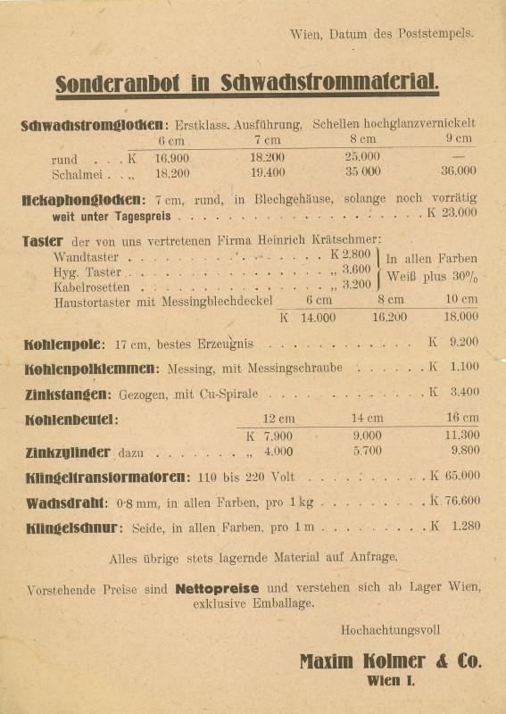 Werbeumschläge und -karten aus Österreich - Seite 4 Wecker12