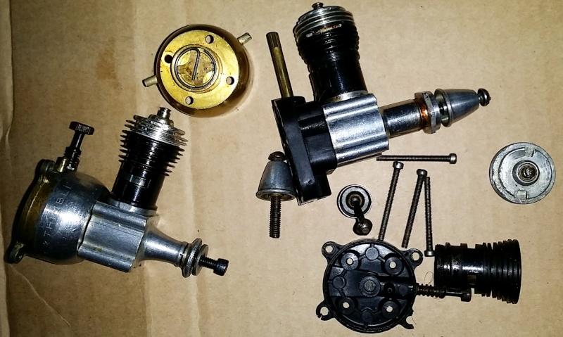 2 x Cox .049 Motors + parts Cox111