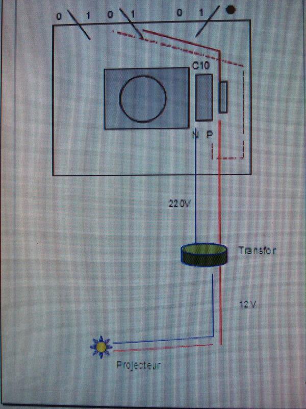 installation électrique à reprendre vers le local technique Tablea10