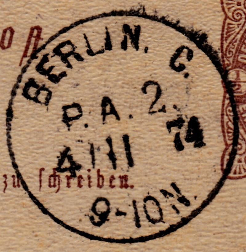 Stempel der Berliner PA/PE zur Brustschild-Zeit Pa2-0410