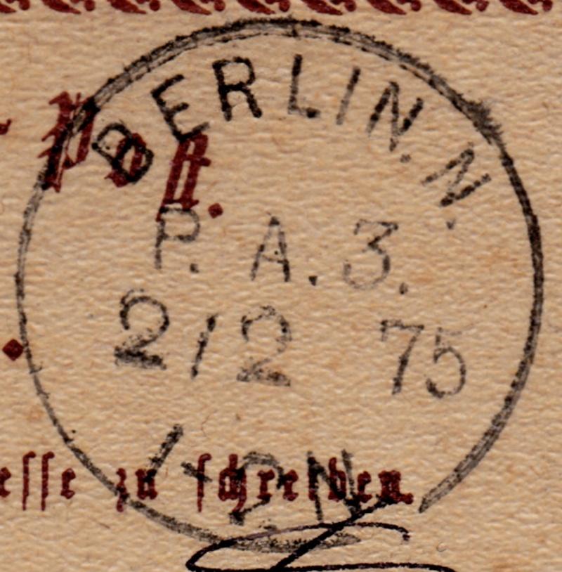 Stempel der Berliner PA/PE zur Brustschild-Zeit Pa3-0210