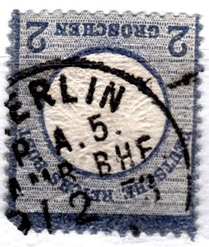 Stempel der Berliner PA/PE zur Brustschild-Zeit Pa5-0210