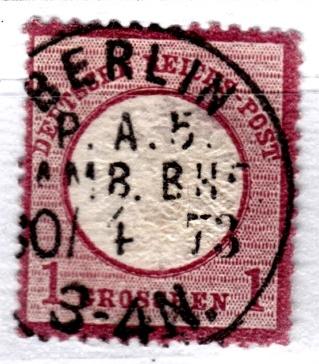 Stempel der Berliner PA/PE zur Brustschild-Zeit Pa5-3010