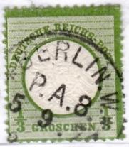 Stempel der Berliner PA/PE zur Brustschild-Zeit Pa8-0410