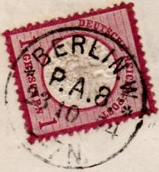 Stempel der Berliner PA/PE zur Brustschild-Zeit Pa8-2310