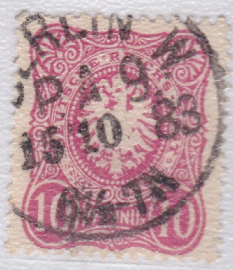 Stempel der Berliner PA/PE zur Brustschild-Zeit Pa9-1511