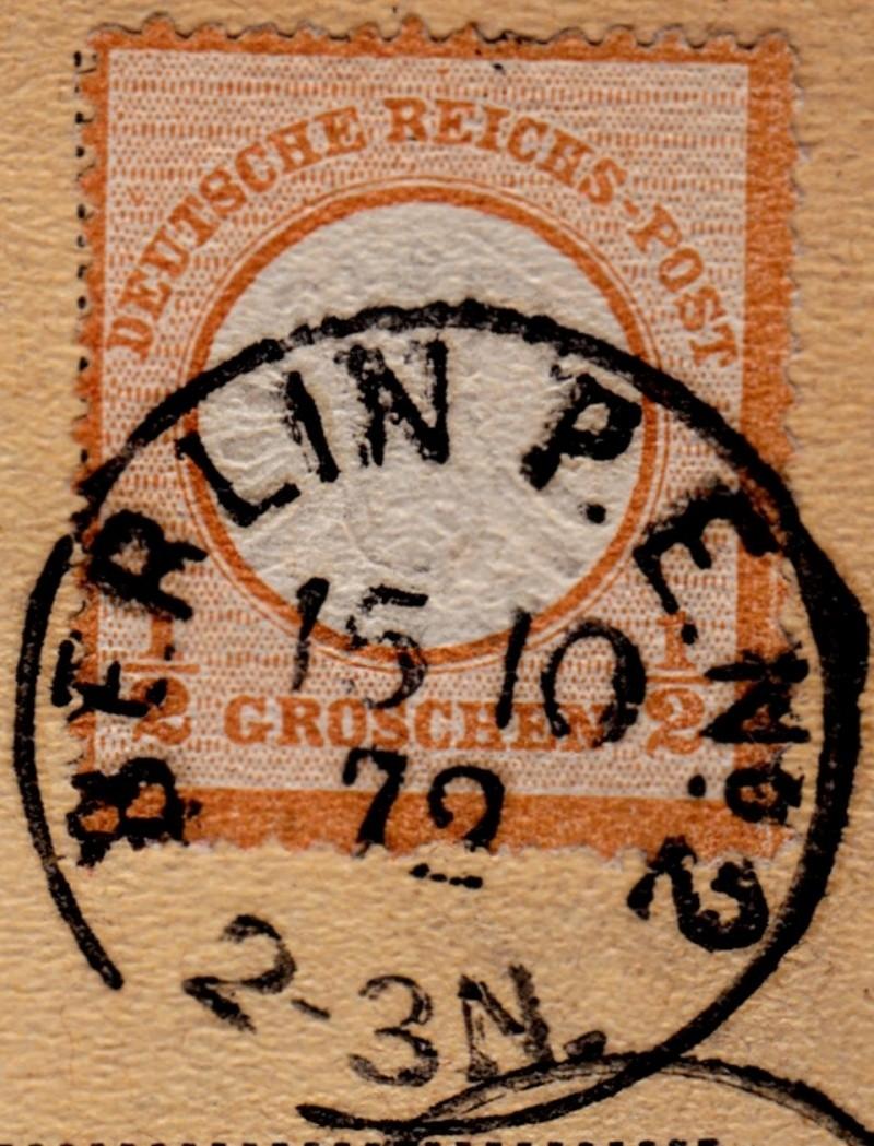 Stempel der Berliner PA/PE zur Brustschild-Zeit Pe2-1510