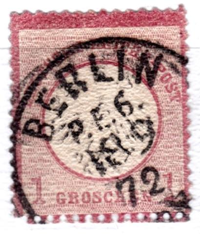 Stempel der Berliner PA/PE zur Brustschild-Zeit Pe6-1811