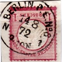 Stempel der Berliner PA/PE zur Brustschild-Zeit Pe8-1410