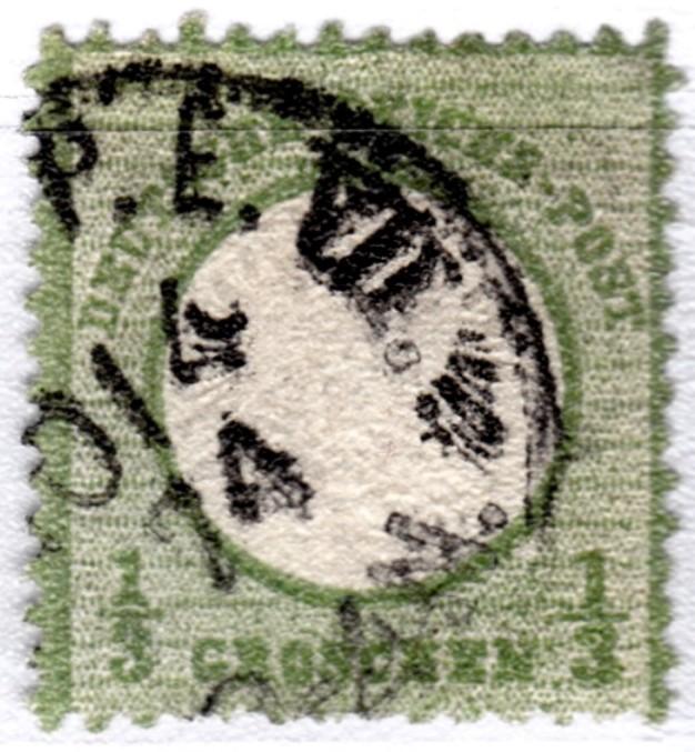 Stempel der Berliner PA/PE zur Brustschild-Zeit Pevii-11