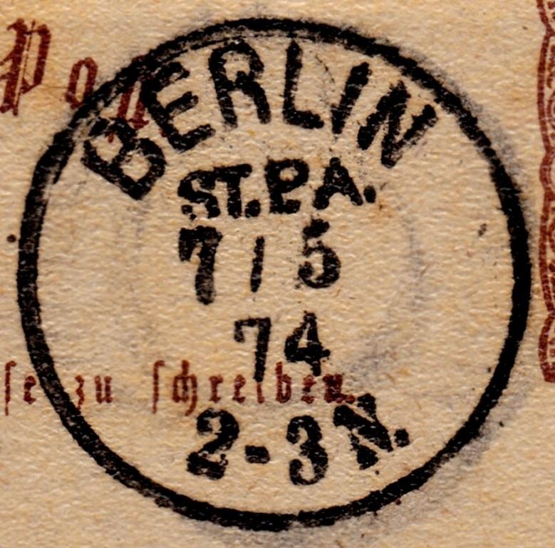 Stempel der Berliner PA/PE zur Brustschild-Zeit Stpa-010