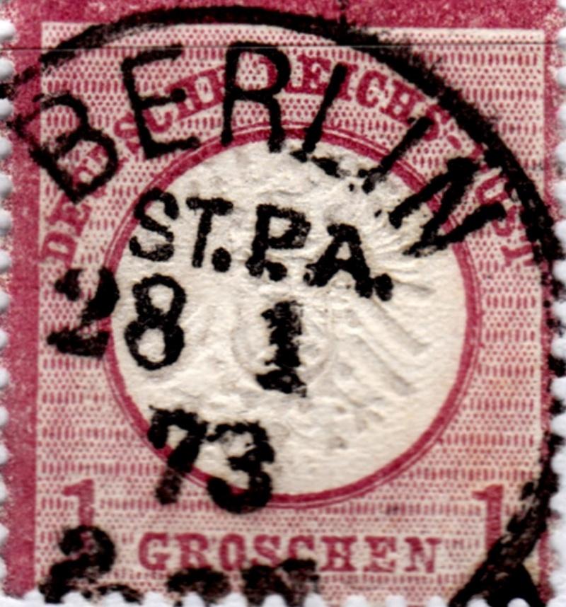Stempel der Berliner PA/PE zur Brustschild-Zeit Stpa-210
