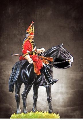 Grenadier de Hannovre à cheval - plat  54mm New_pi36