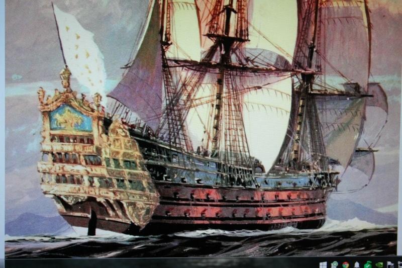 le radoub du ponant : Origine des voiles royales - Page 2 Img_4572