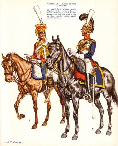 Projets en 28 mm : gardes d'Honneur italiens et gardes du Corps westphaliens 1bb2e610