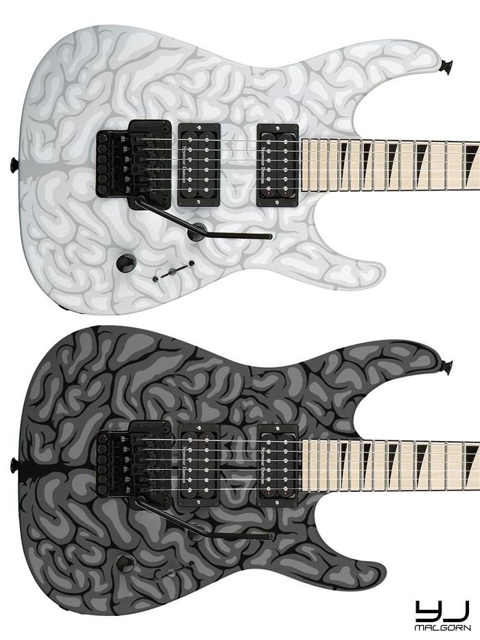 "Jackson DK2M ""Brain"" Custom Design Jackso16"