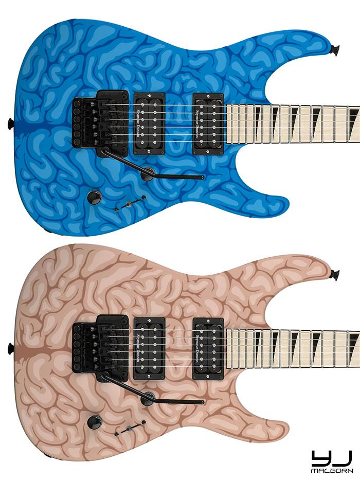 "Jackson DK2M ""Brain"" Custom Design Jackso17"
