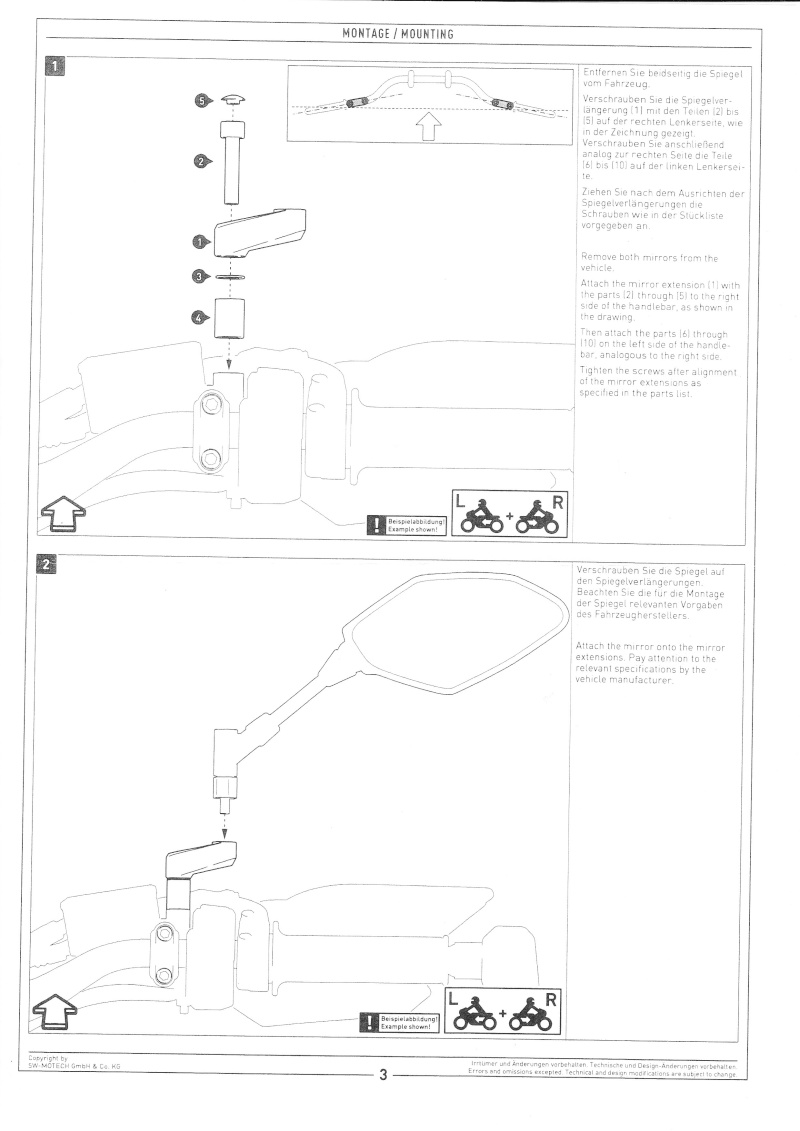Ralonge rétroviseur SW-MOTECH Ralong10
