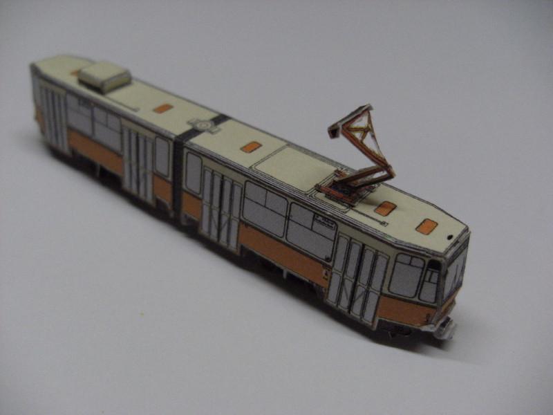 "Straßenbahn ""KT4D"", Berlin,orange, Maßstab 1:250 Kt4d-b10"